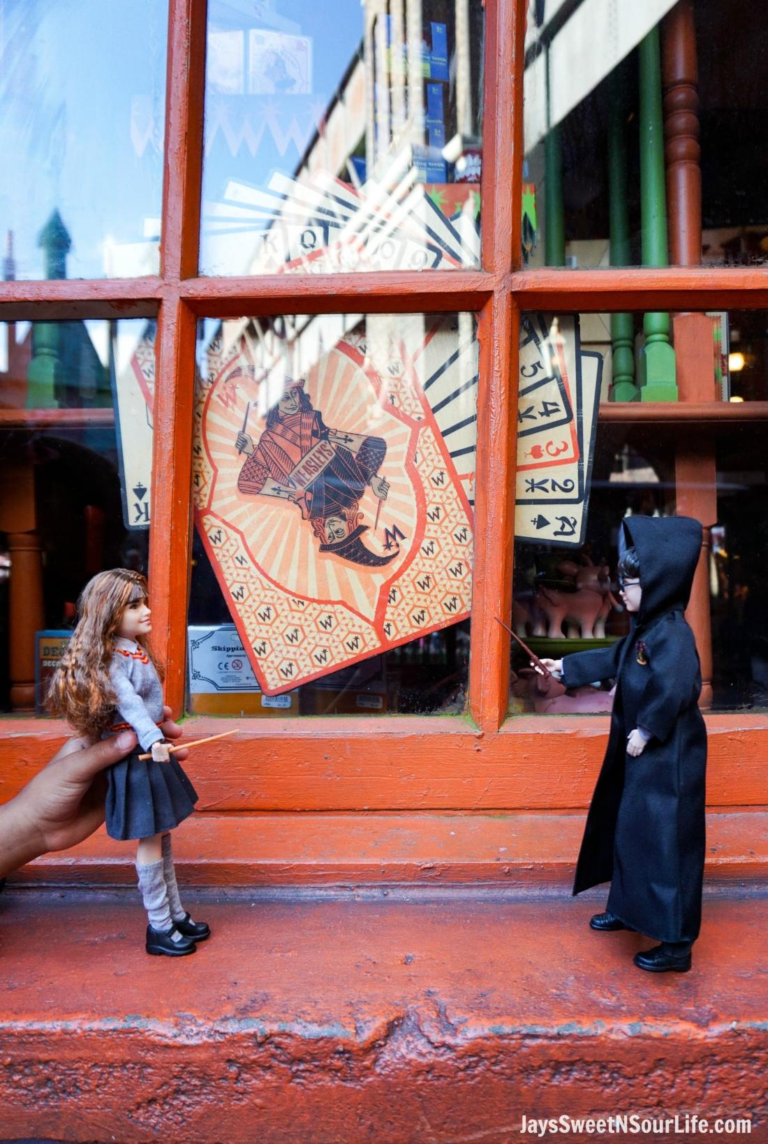 Harry Potter Dolls Window Practicing magical spells. Learn more aboutthese collectable Harry Potter Dolls at Jayssweetnsourlife.com .