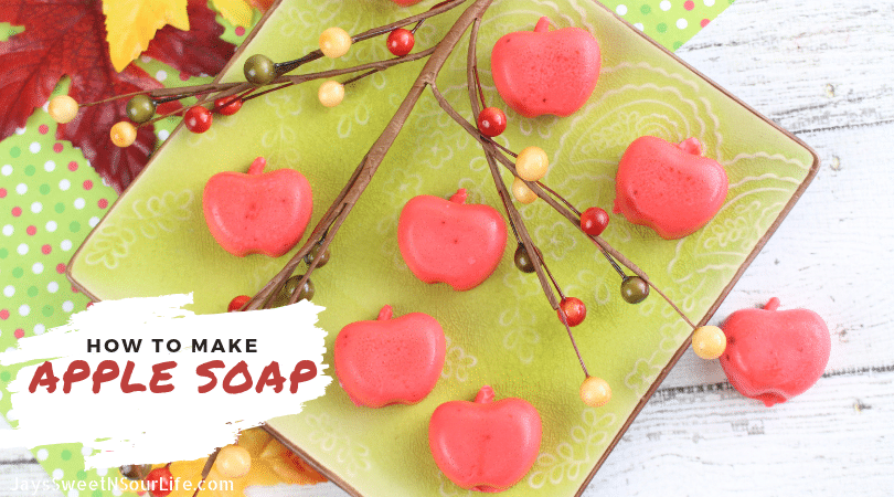 Learn How To Make Apple Soap Social Share. Create your very own Apple Soap's to give away as gifts for the holidays or decorate your home.