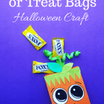 Pumpkin Trick or Treat Bags Halloween Craft. These Pumpkin Trick or Treat Bags are so cute and perfect for Halloween celebrations. They are so easy to make, and even more fun to hand out to friends.