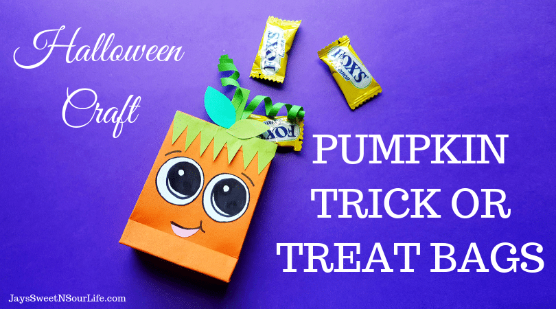 Pumpkin Trick or Treat Bags Halloween Kid Craft. These cute pumpkin trick or treat bags are perfect for Halloween themed class parties, easy to follow and fun to hand out to friends.