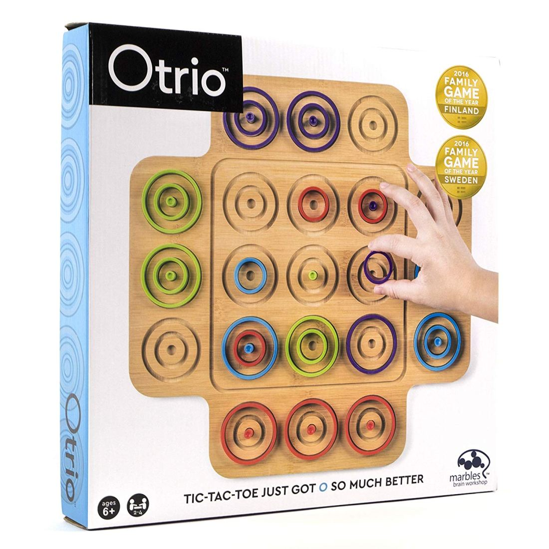 A new twist on classic 3-in-a-row style games. Exercise critical thinking and visual perception as you plot your next move. Read about all the toys on my Holiday Gift Ideas For Kids Guide.