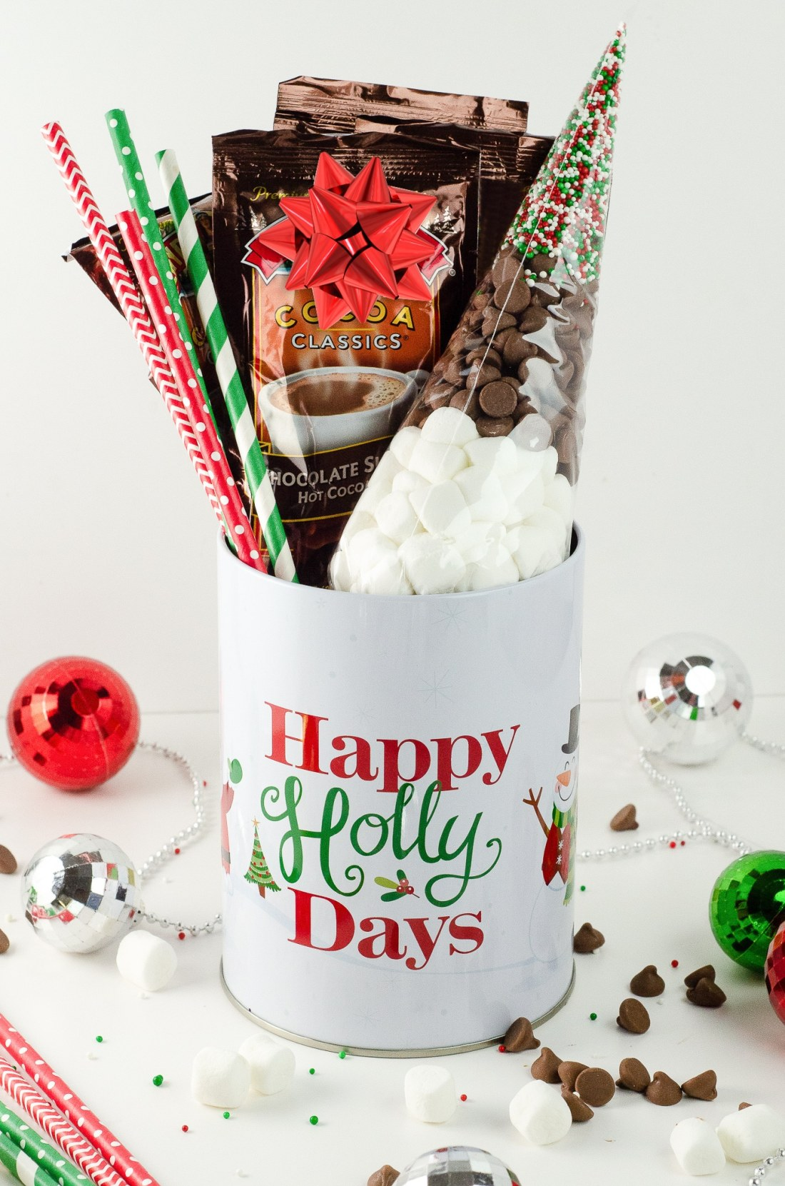 "Holiday Teachers Gift Ideas Hot Chocolate. Nothing says ""Happy Holidays"" like a Holiday Teachers Gift. Read more about my three fun Holiday Teachers Gift Ideas for your family to try this holiday season."