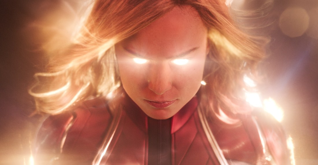 Marvel Studios Captain Marvel Eyes Glowing. Set in the 1990s, Marvel Studios' CAPTAIN MARVEL is an all-new adventure from a previously unseen period in the history of the Marvel Cinematic Universe that follows the journey of Carol Danvers as she becomes one of the universe's most powerful heroes.