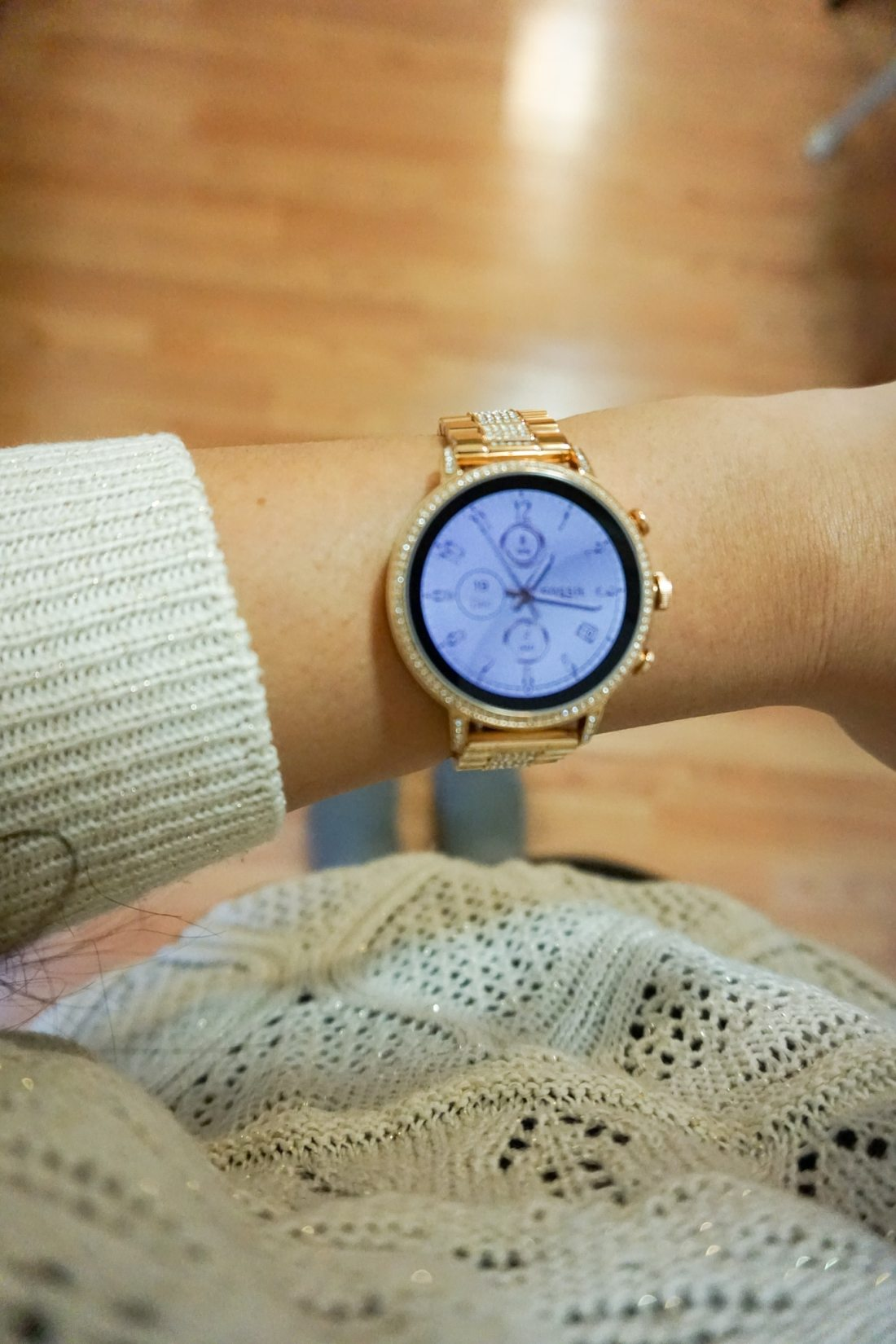 Fossil - Gen 4 Venture HR Smartwatch Being Worn. The Women's Fossil - Gen 4 Venture HR Smartwatch is the best assistant you never knew you hired. Enjoy the touch screen plus special features.