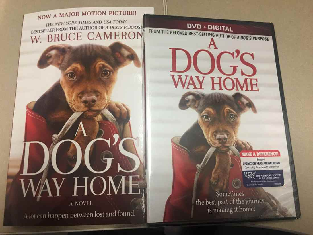 "A Dog's Way Home DVD and Book Giveaway. I am very excited to partner with Sony Pictures to bring you my ""A Dog's Way Home"" DVD and Book Giveaway! This touching film shares Bella's heartwarming adventure as she embarks on an epic 400-mile journey back home."