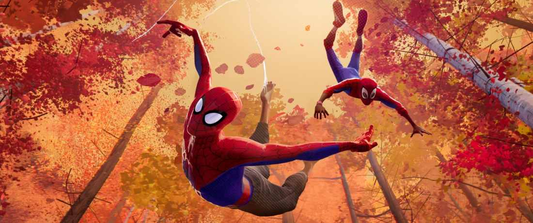 SpiderVerse movie still. Learn all about the SPIDER-MAN: INTO THE SPIDER-VERSE film as well as snag a DIY Paper Foldables PDF for more fun with the family! SPIDER-MAN: INTO THE SPIDER-VERSE is availble on 4K, Bluray, and DVD today!