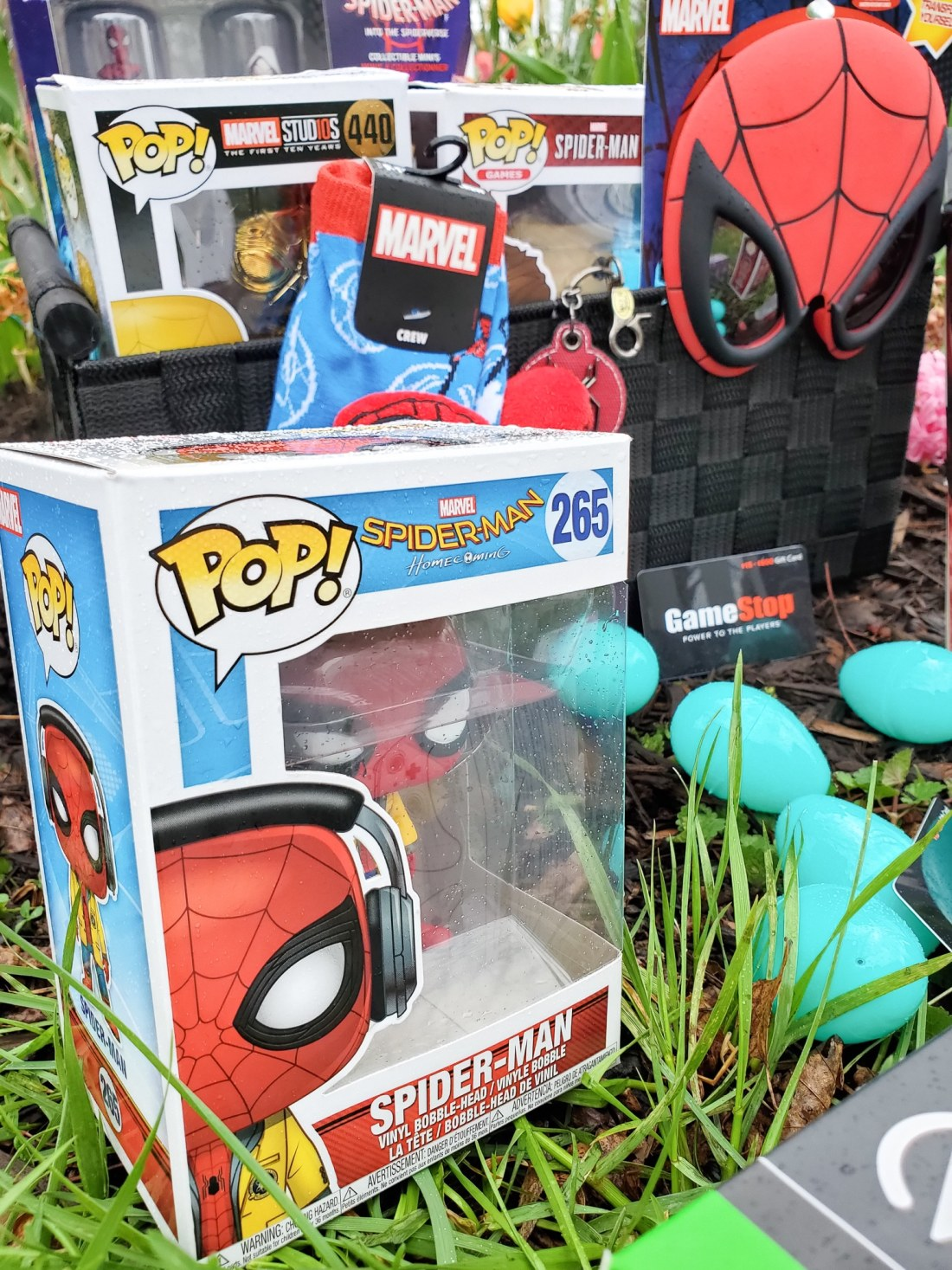 Spider-Man Easter Basket Funk Pops. Build your very own Spider-Man themed Easter Basket with a little help from your One-Stop-Shop GameStop. Gamestop has everything you need to build the ultimate Easter Basket for your teenager.