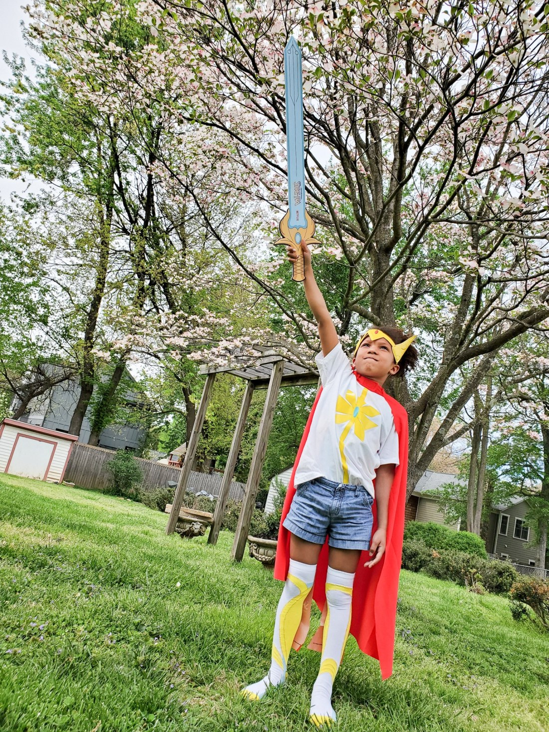 Esuun She Ra Season 2 Costume. Mark your calendars because on April 26th DreamWorks She-Ra and the Princesses of Power is roaring back to Netflix for the Honor of Grayskull. The series creator promises there will be cool new characters and story lines that didn't make it into the first season of She-Ra.