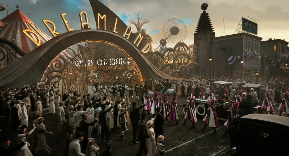 "In Tim Burton's all-new, live-action reimagining of ""Dumbo,"" persuasive entrepreneur V.A. Vandevere (Michael Keaton) decides that a young elephant from a struggling circus belongs in his newest, larger-than-life entertainment venture, Dreamland."