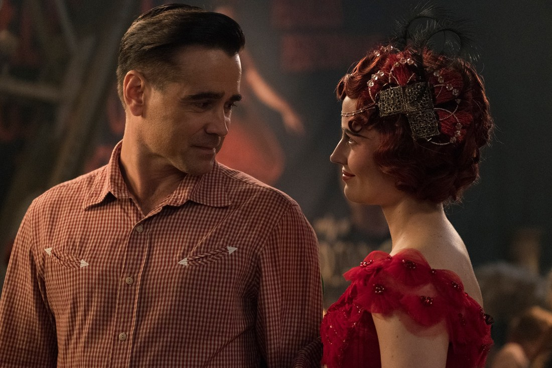 "In Tim Burton's all-new, live-action reimagining of ""Dumbo,"" former circus star Holt Farrier (Colin Farrell) is tapped to care for a newborn elephant with oversized ears. Dumbo flies into theaters on March 29, 2019."