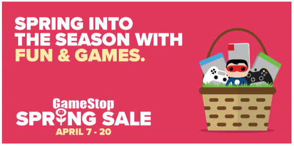 Now is the perfect time to grab all of your Easter Basket Filler needs during GameStop's Spring Sales Event, going on from April 7 through April 20.
