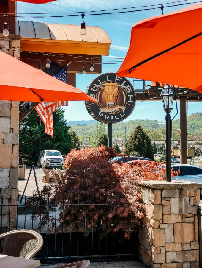 Bullfish Grill Pigeon Forge, TN. The Bullfish Grill offers a superb dining experience built for families to enjoy. Enjoy freshly baked bread with a backdrop of the beautiful Smoky Mountains. View the menu and all the foods we enjoyed during our visit on the blog.