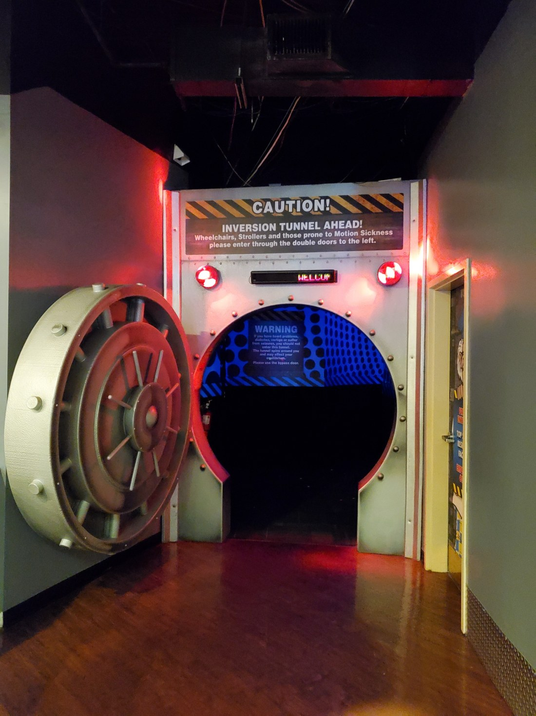 """WonderWorks Vault Entrance. One of the topthings to do in Pigeon Forge, WonderWorks Indoor Amusement park, is one of the bestPigeon Forge Attractions. With over 35,000 square feet of """"edu-tainment,"""" WonderWorks is an amusement park for the mind. Read our full review on the blog."""