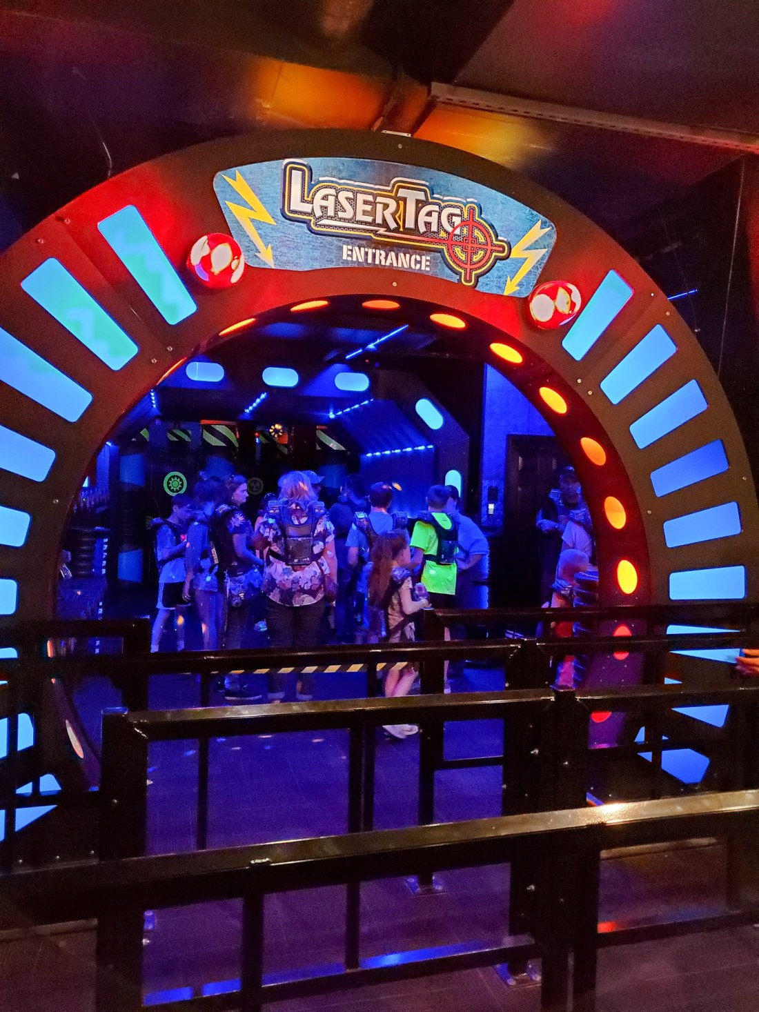 """WonderWorks Laser Tag. One of the topthings to do in Pigeon Forge, WonderWorks Indoor Amusement park, is one of the bestPigeon Forge Attractions. With over 35,000 square feet of """"edu-tainment,"""" WonderWorks is an amusement park for the mind. Read our full review on the blog."""