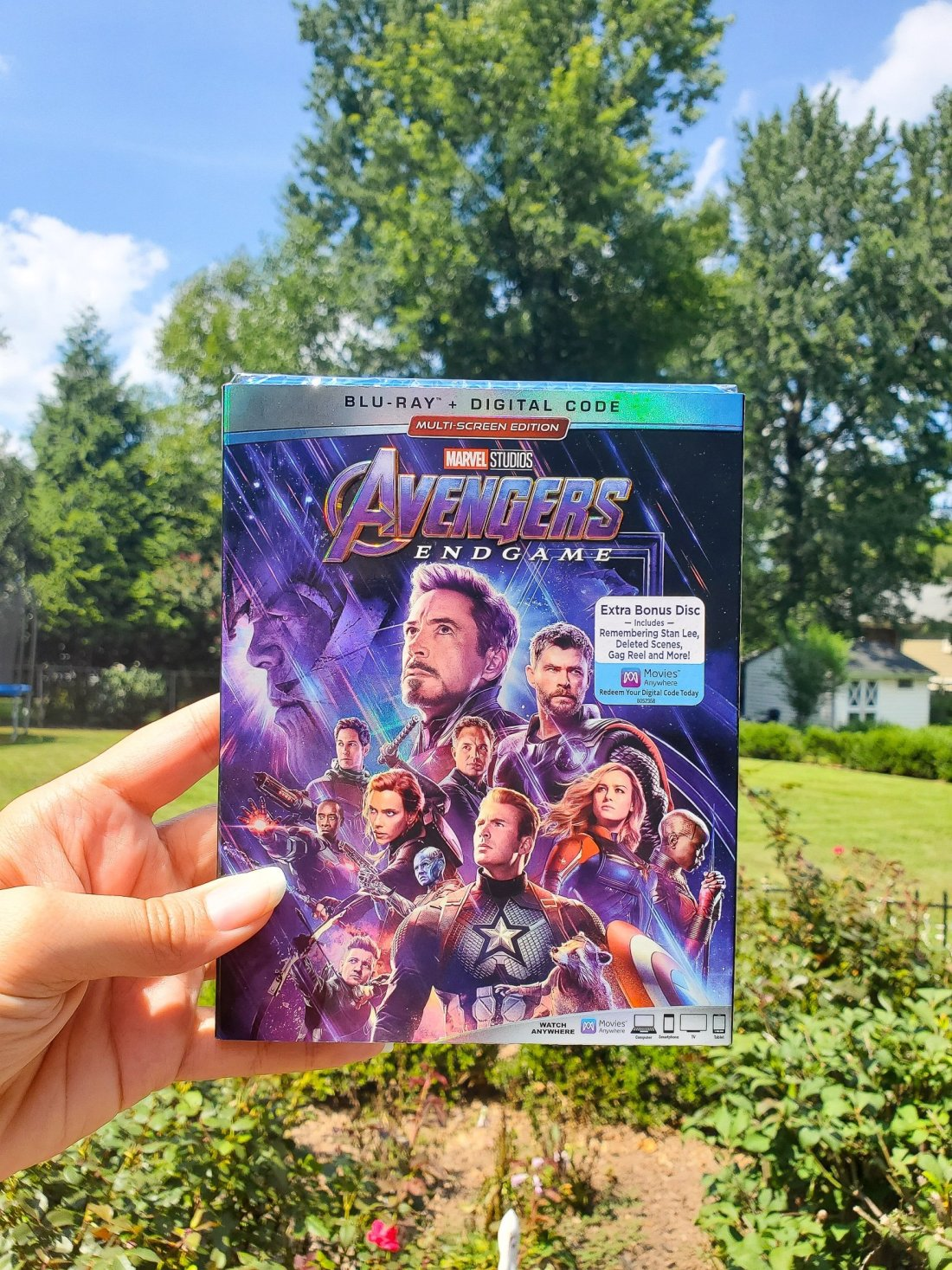 Avengers: Endgame Blu-Ray. Avengers: Endgame arrives on DVD, Blu-ray, and 4K on August 13th. Packed with bonus material and a special tribute to Stan Lee.