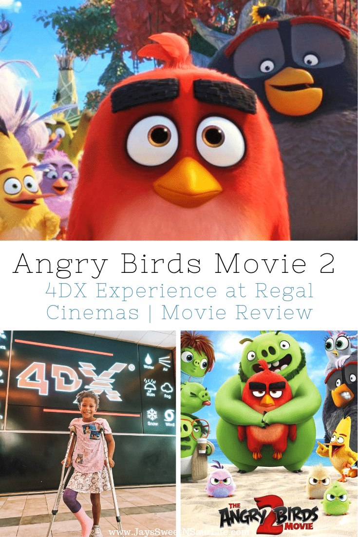 Angry Birds Movie 2 4DX Experience at Regal Cinemas Movie Review. The flightless angry birds and the scheming green piggies take their beef to the next level in The Angry Birds Movie 2! Catch it at your local Regal Cinema in their 4DX Experience, read my full Movie Review on the blog.