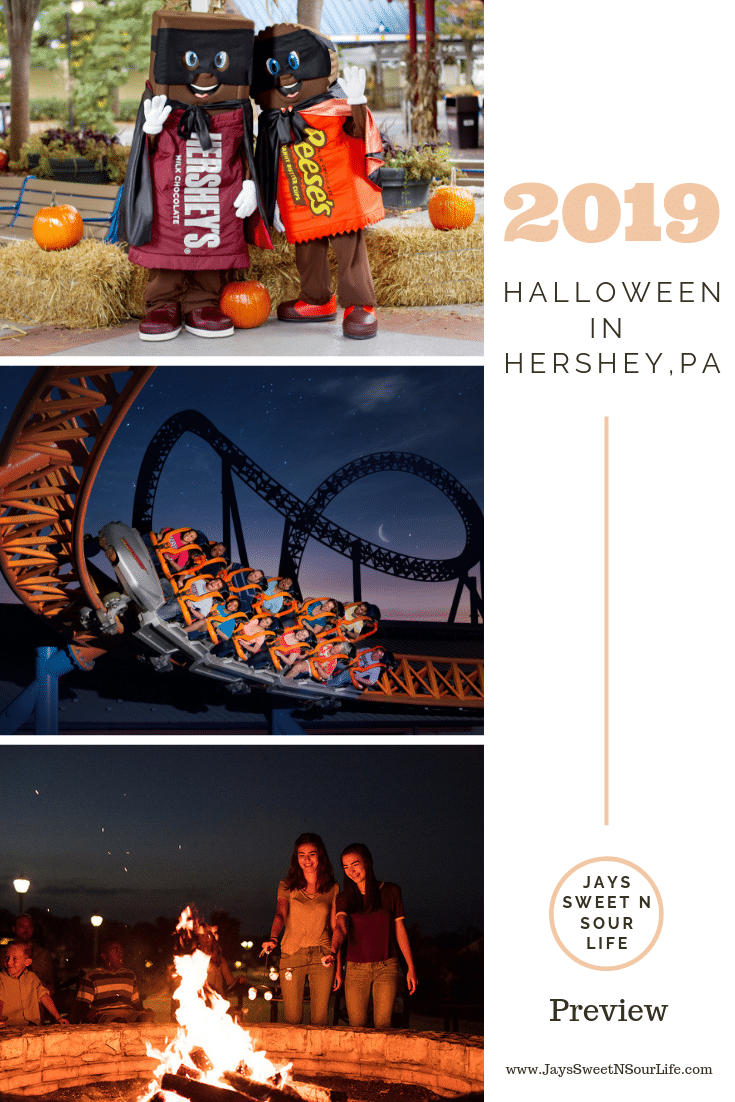 2019 Halloween in Hershey PA Preview. The Sweetest Place On Earth will soon be bustling with sweet fall events and themed happenings. The fun takes place Fridays through Sundays from Oct. 18 through Nov. 3 at Hersheypark amusement park and other locations throughout the family-friendly destination.