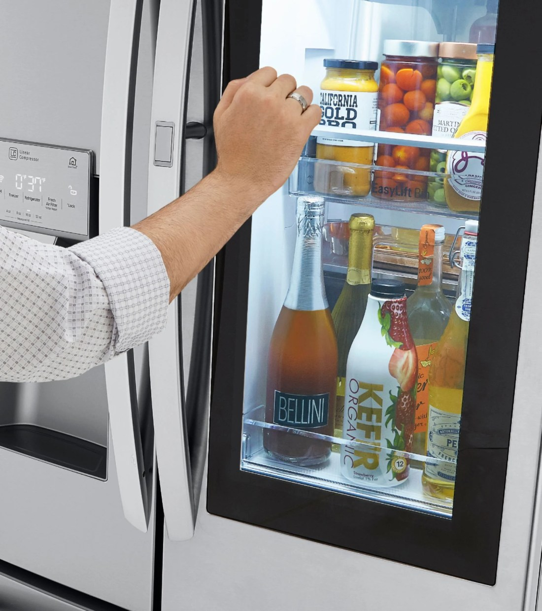 LG InstaView™ Door-in-Door® Refrigerator with Craft Ice™ InstaView Door-in-Door. LG's newest InstaView™ Door-in-Door® refrigerator with Craft Ice™ has everything you need to become the ultimate home entertainer. Purchase LG's newest refirdgerator in store or online at Best Buy.