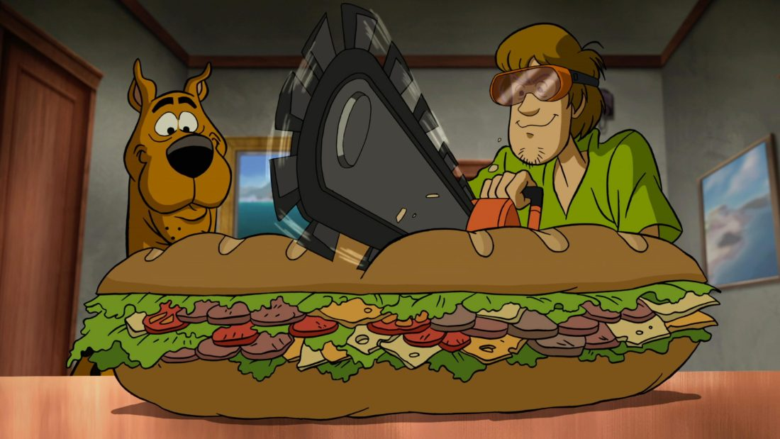 Scooby Doo Return To Zombie Island Sandhich. Pack your Scooby Snacks and join the Mystery Inc. gang as the teen sleuths embark on a wild and spooky vacation with zombies and cat people on Scooby-Doo! Return to Zombie Island, an all-new, original film. Available on Digital and DVD October 1rst, 2019.