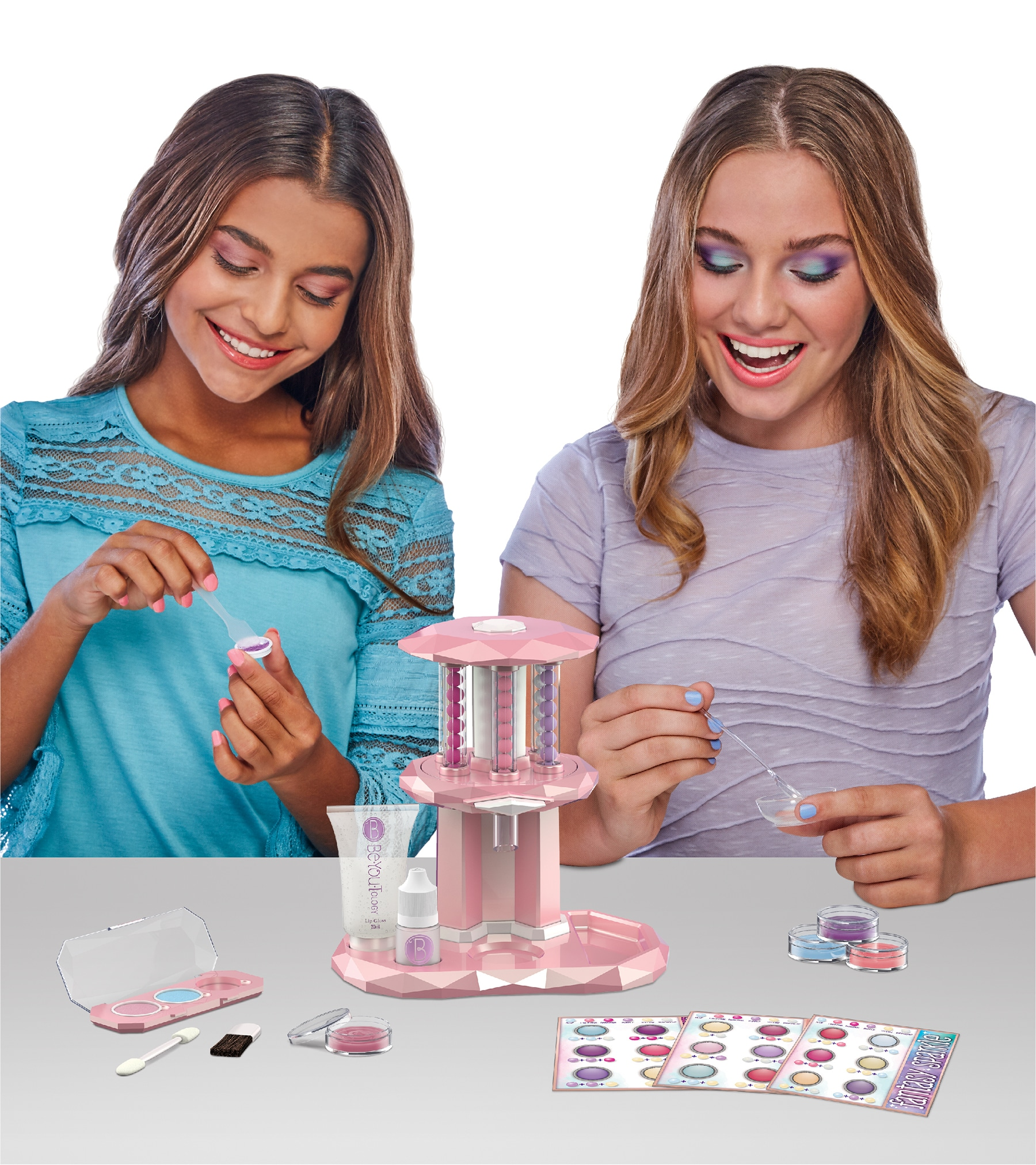 BeYouTology Create Your Own Luxe Cosmetic Bar Kit. Girls will love creating their own makeup with the Luxe Cosmetic Bar! Experiment and develop personalized shades of face, lip, and eye makeup Crush the color pearls of your choice to make totally unique shades. Create all kinds of personalized makeup for yourself and for friends!