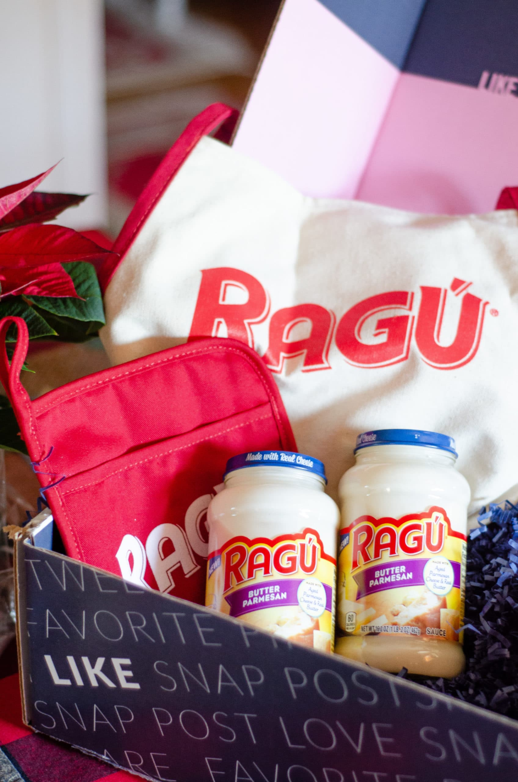 Ragu Butter Parmesan Sauce. Gift your hostess a Thanksgiving themed box of goodies. Gift them products they can use on Thanksgiving Day as well as after.