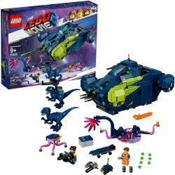 LEGO The Movie 2 Rex's Rexplorer. Kids can team up with Rex, Emmet and the raptors against the Plantimals with THE LEGO MOVIE 2 70835 Rex's Rexplorer space toy set! The Rexplorer kids spaceship features 2 opening cockpits, spring-loaded and stud shooters, rotating engines, an opening rear compartment for interior play, and a removable speeder.