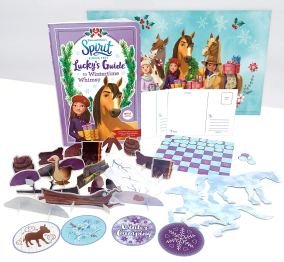 In this cozy guidebook, Lucky Prescott and her friends celebrate all the things they love about winter with the help of their trusty steeds! The PALs and other key characters from the hit Netflix show guide readers through pages of interactive quizzes about what gifts to give loved ones, recipes for holiday treats, easy-to-make winter crafts, and other seasonal games and activities! With nonfiction elements about horse care in cold weather and fun pop-out pieces, this guide is a holiday must-have for DreamWorks Animation's Spirit Riding Free fans.