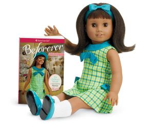 "Melody American Girl Doll. Melody is a budding singer growing up in 1964 Detroit during the civil rights movement. Inspire hours of imaginative play with the 18"" Melody doll in a complete 1960s outfit, plus her first book."