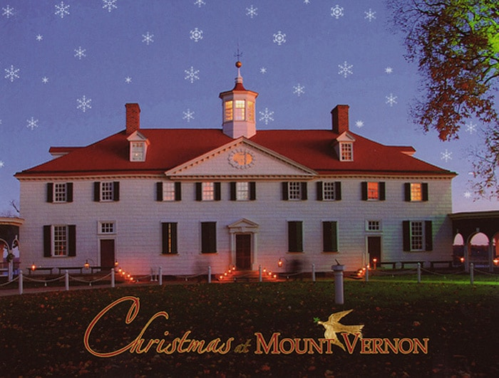 Christmas at Mount Vernon. Christmas past meets Christmas present at George Washington's estate. Just as the Washingtons celebrated the holiday with family and friends, visitors can start a new tradition of visiting Mount Vernon this holiday season.