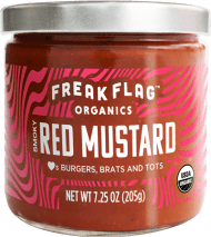 Freak Flag Smoky Red Mustard. Smoked paprika: It's the culinary darling of all those Instagram-famous chefs. Plus mustard seeds and tomato to push your flavor range up past 11.