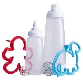Whiskware Pancake Art Kit. Up your breakfast game, and get the kids in on the kitchen action. The Whiskware™ Pancake Art Kit makes cooking creative breakfasts easy, fast, and fun. The kit includes the Whiskware™ Batter Mixer, a Pancake Art Bottle, and two individual Pancake Shapers.