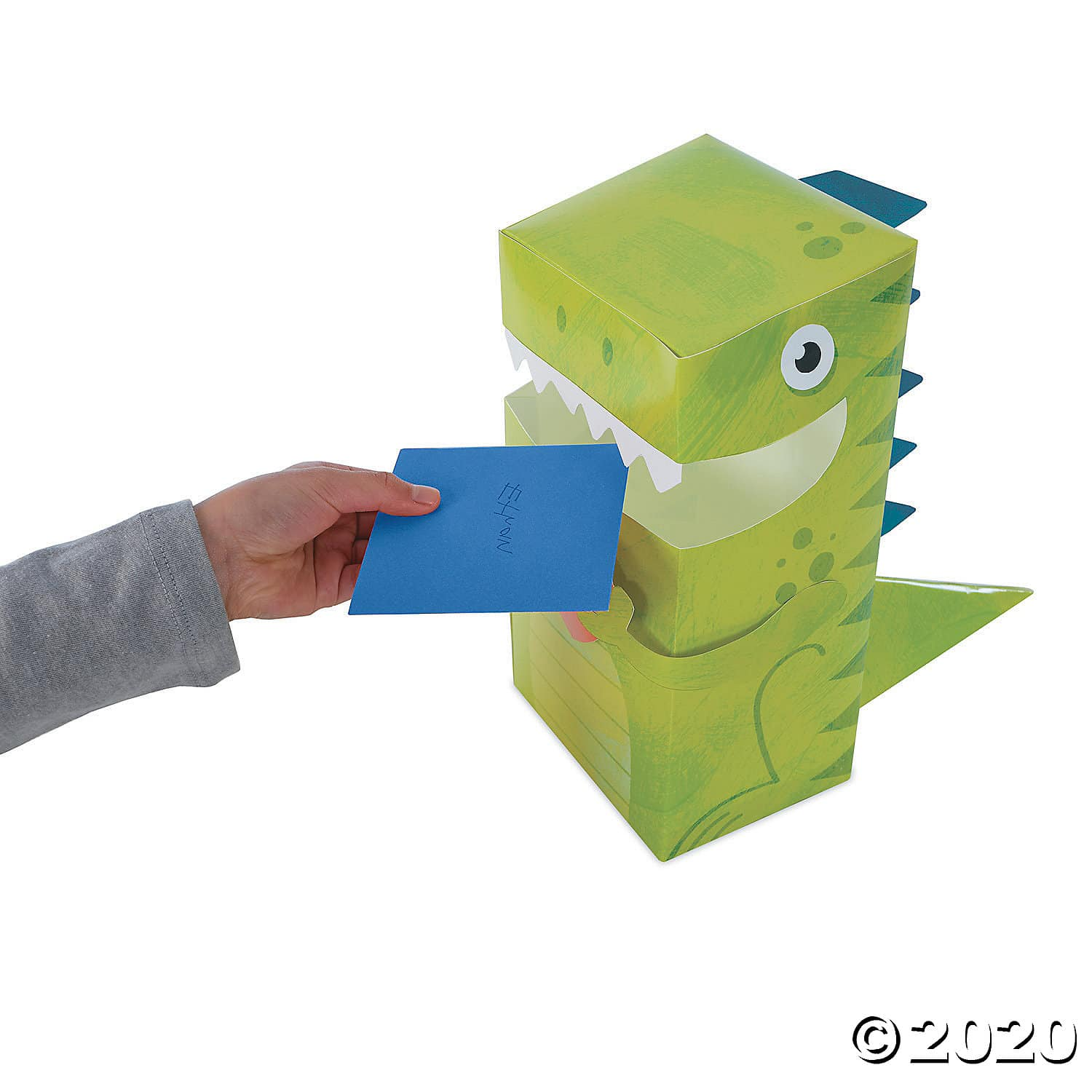 Dinosaur Valentine Mailbox. This ready-to-assemble dinosaur is perfect for collecting Valentines cards and candy at any classroom party. Simply fold the sturdy cardstock mailbox, seal it with adhesive strips and add sparkly foil accessories for your own personal touch! 2020 Valentine's Day Gift Guide from Jays Sweet N Sour Life Blog.