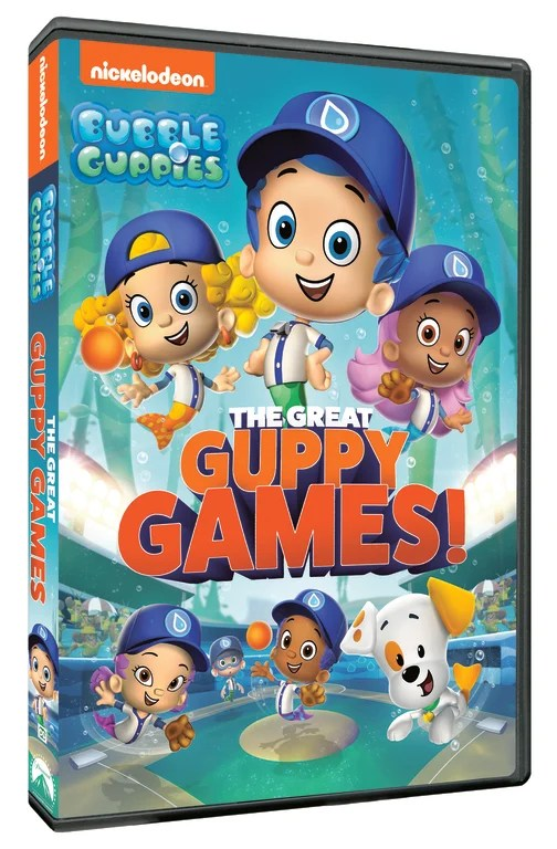 The Bubble Guppies are swimming back onto DVD for a fin-tastic collection in Bubble Guppies: The Great Guppy Games! Arriving on DVD May 12, 2020, preschoolers can dive into lots of fun and games with their favorite Guppies.