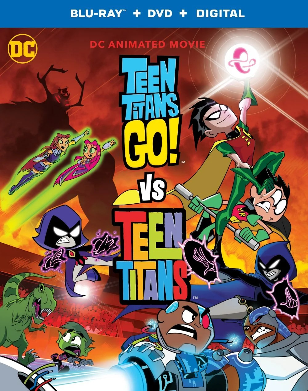 Teen Titans Go! VS Teen Titans DVD. Teen Titans Go! Vs. Teen Titans is now available to own on Digital, Blu-ray & DVD