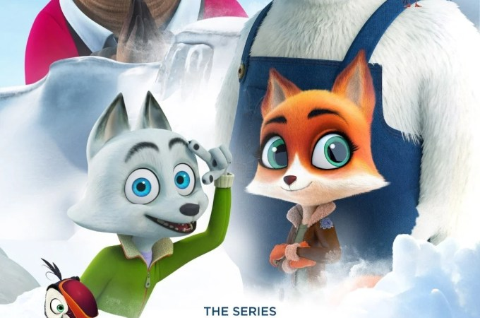 """Arctic Friends Poster. Artic Friends, based on the popular animated film, """"Arctic Dogs,"""" is now available to stream on Apple TV and Amazon Prime Video! The original hit film Artic Dogs was released theatrically in 2019 and went on to become one of the top-rated animated films on Netflix."""