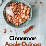 Cinnamon Apple Quinoa Breakfast Bowl. This Cinnamon Apple Quinoa Breakfast Bowl is a deliciously easy way to start your morning. Packed with flavor and healthy ingredients, this delicious breakfast bowl will keep you full and energized for hours.