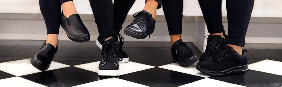 Emerils Footwear Womens Shoes. Step into a new pair of Chef Emeril Lagasse's work footwear, designed to be kicked up a notch. These specially designed shoes that Emeril Lagasse created with culinary and restaurant staff in mind, provide a safe workforce shoe that is suitable for an array of different professions.