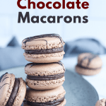 Chocolate Macarons with Salted Caramel Filling. These Chocolate Macarons with Salted Caramel Filling are a delight, so soft and full of flavor. Perfect for entertaining as well as sweet treat gifts to loved ones during the holidays.