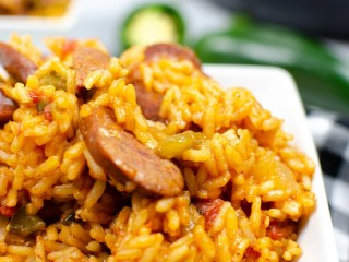 Instant Pot Andouille Sausage Jambalaya Recipe. An authentic Instant Pot Andouille Sausage Jambalaya recipe that can be made in 30 minutes! This flavorful easy one-pan jambalaya recipe is made with andouille sausage, bell peppers, onion, celery, and spices. It's an instant family favorite recipe that is perfect for busy nights.
