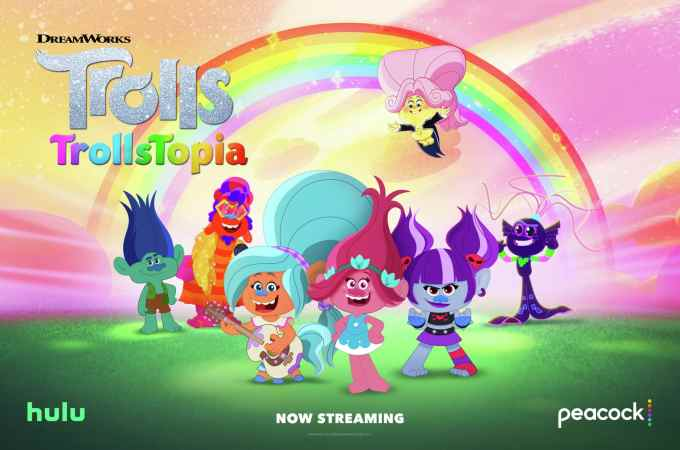 Trollstopia Poster. Inspired by the beloved DreamWorks Animation films, TrollsTopia is the next chapter in the hair-raising adventures of the trolls. Watch the first 13-episode season on November 19 exclusively on Peacock and Hulu.
