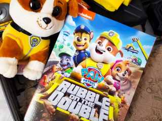 "Get ready to raise the ""woof"" with Rubble and the rest of the PAW Patrol in nine new construction missions! Rubble and the PAW Patrol are ready to wreck-and-roll in PAW Patrol: Rubble on the Double, now available on DVD!"