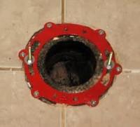 Broken Toilet Flange - Jaytech Plumbing   Guelph Plumber