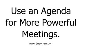 Use an Agenda for More Powerful Meetings