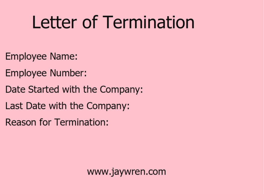 Letter of Termination Why Were You Fired?
