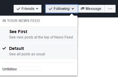 Facebook Follow Setting