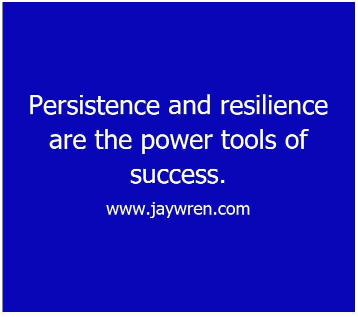 Achieving Success: Persistence and resilience are the power tools of success.