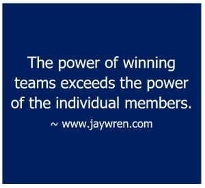 The power of winning teams exceeds the power of the individual members