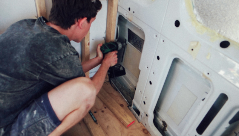 drilling reference hole for hot water