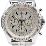 Breitling Bentley 6 75 A44364 Men S 48mm White Index Chronograph Stainless Steel Box Papers