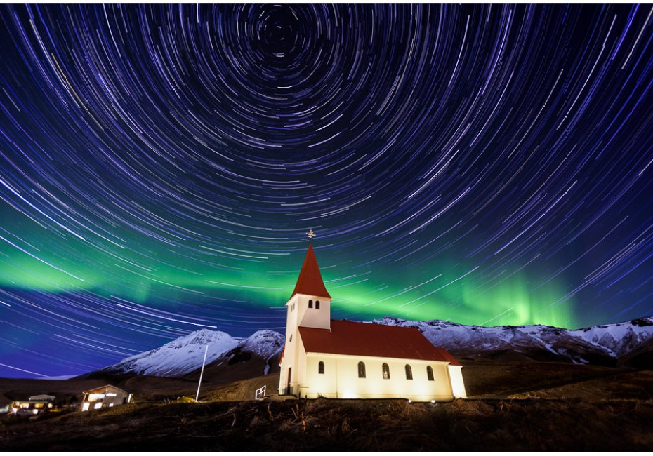 The Church at Vik by Joe Azure.